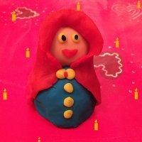Virgen María de plastilina. Figuras navideñas para niños