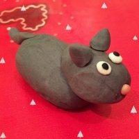 Mula de plastilina. Belén de Navidad casero para niños