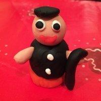 Pastor de plastilina. Manualidades navideñas para niños