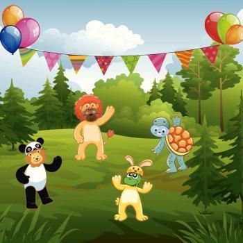 El disfraz de carnaval de los animales
