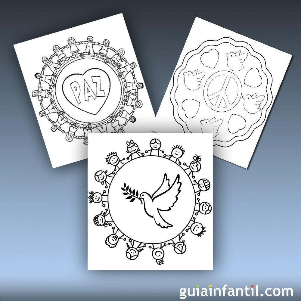 10 Mandalas de la paz para imprimir y colorear