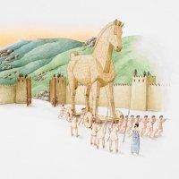 El caballo de Troya. Leyendas cortas de la mitología griega