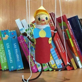 Cómo hacer una marioneta de Pinocho. Manualidad para niños