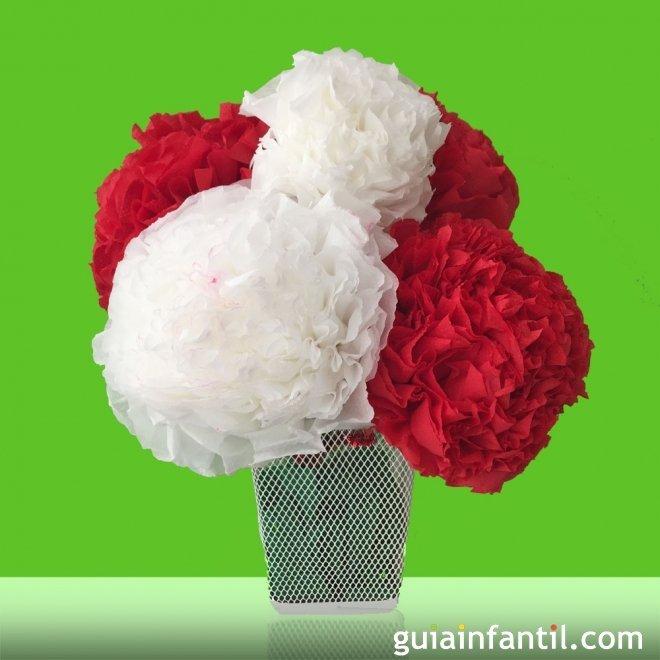 C mo hacer flores de papel manualidades infantiles - Como hacer rosas de papel ...