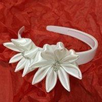 Diadema de flores DIY para la Primera Comunión