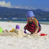 Juegos para niños en el mar