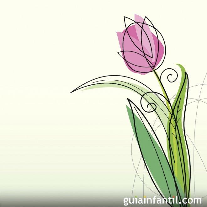 Primavera. Dibujos infantiles para colorear