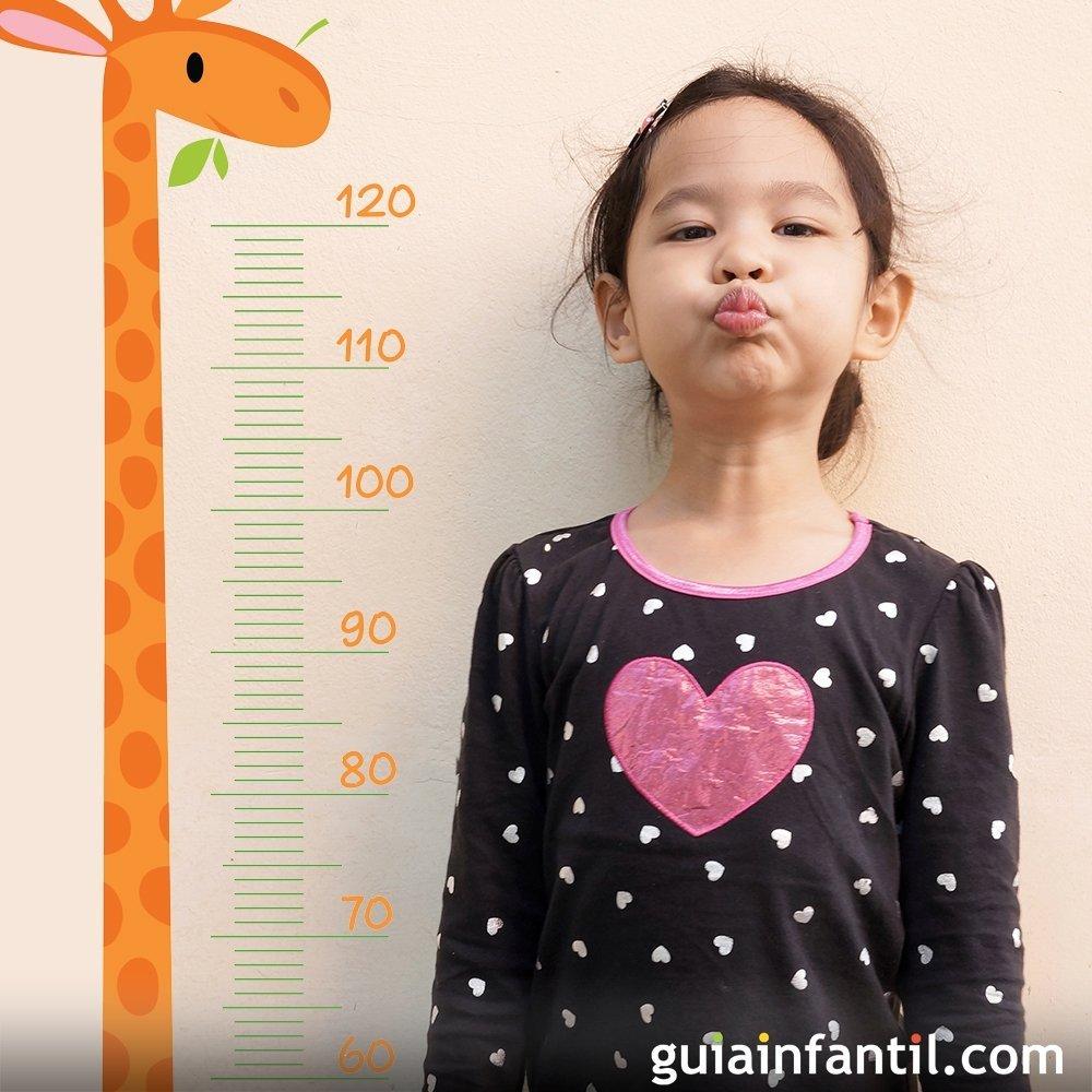 peso y estatura de una nina de 7 anos