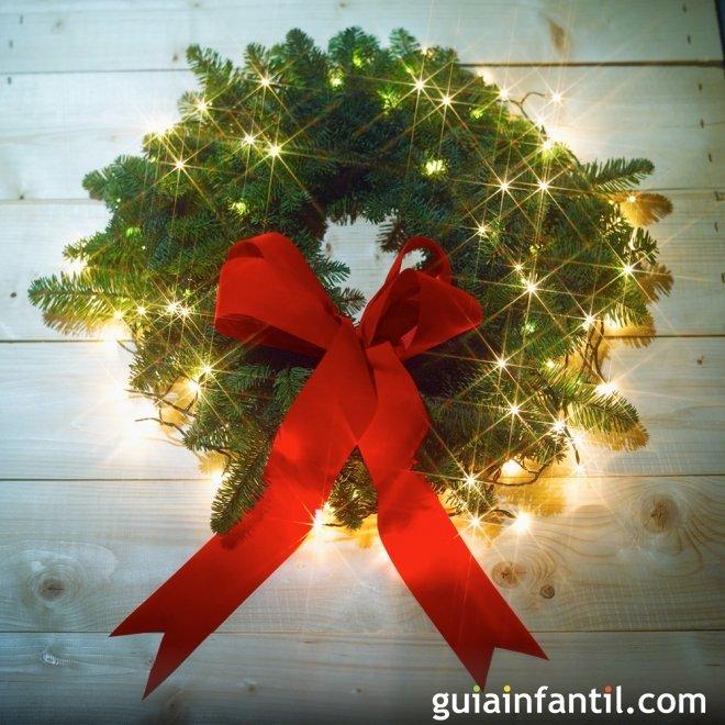 Coronas de navidad manualidades infantiles for Adorno navidad puerta entrada