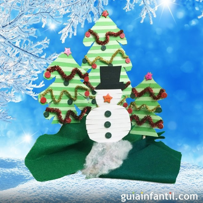 Decoraci n de navidad mu eco de nieve y rboles navide os - Fotos arboles navidenos ...