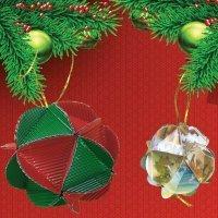 Bolas de Navidad de cartón. Manualidades de reciclaje