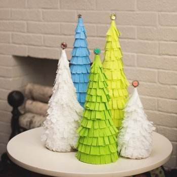 Manualidades para hacer rboles de navidad con los ni os - Originales arboles de navidad ...