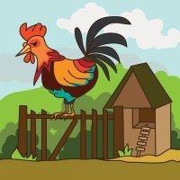 El gallo despertador. Poema infantil de Gloria Fuertes