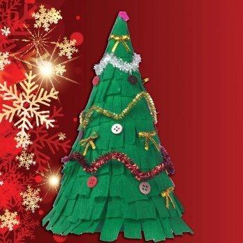 Rbol de navidad de papel manualidades f ciles - Manualidades de arboles de navidad ...