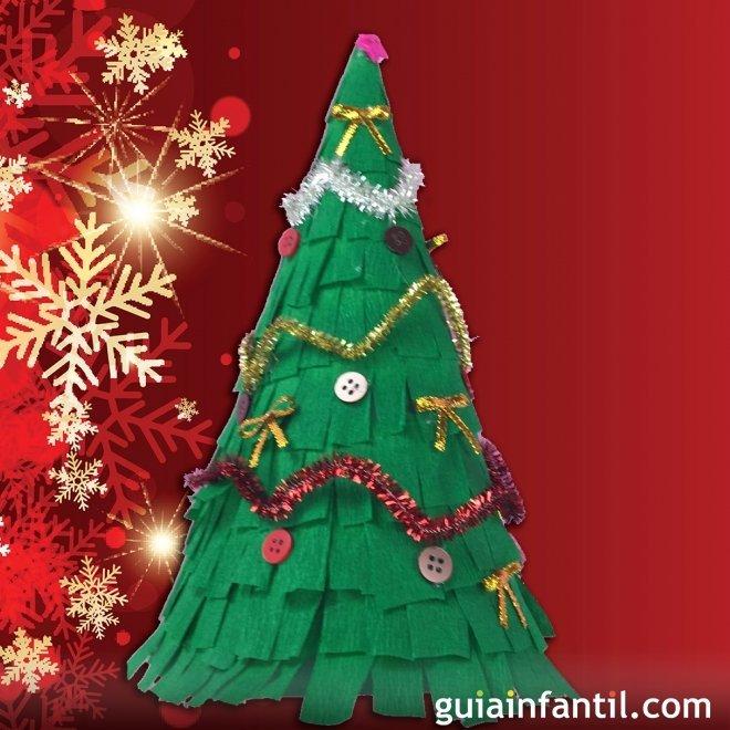 Rbol de navidad de papel manualidades f ciles for Como hacer un arbol de navidad original