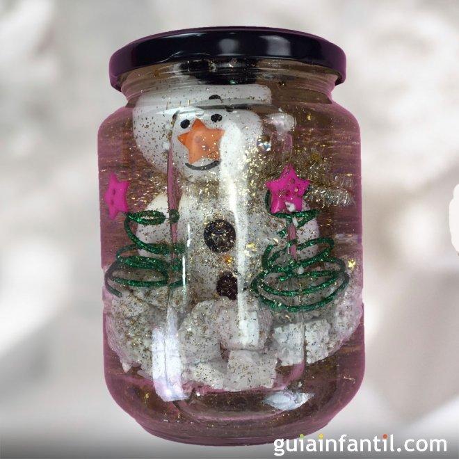 Bola de nieve para navidad con un bote de cristal - Bolas de navidad para ninos ...