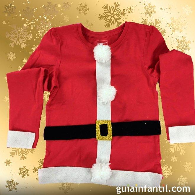 Disfraz Casero De Papá Noel Manualidades Navideñas