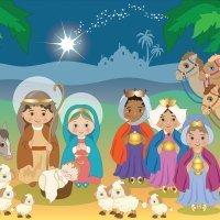Jesús, María y José. Poema navideño de Gloria Fuertes
