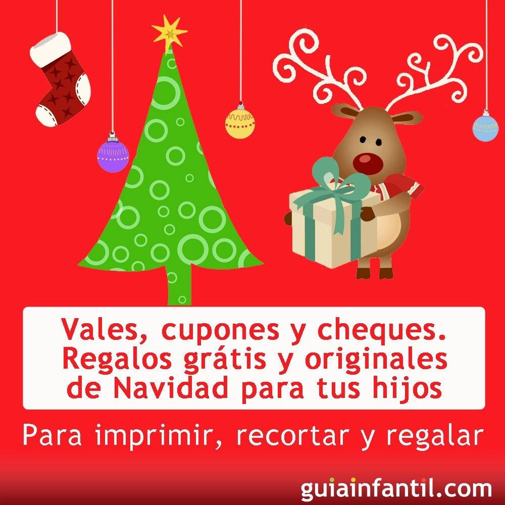 10 vales y cupones de regalos para los niños en Navidad