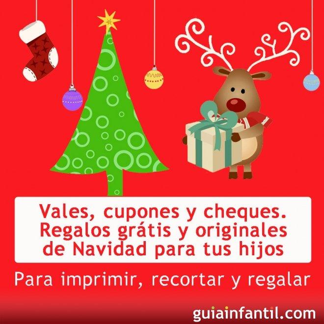 vales y cupones de regalos para los nios en navidad