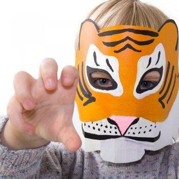 Dibuja y colorea tu máscara