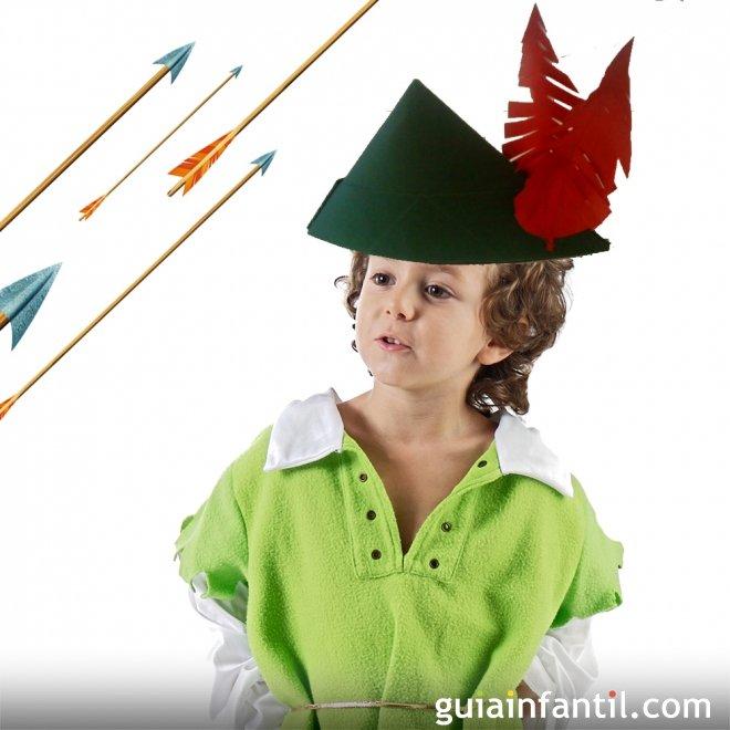 Sombrero de Robin Hood. Manualidades de disfraces 4ebf7cfbb29