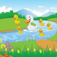 Five little ducks. Canciones para aprender inglés