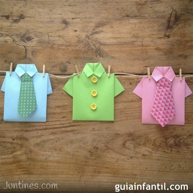 Camisas De Origami Manualidades Con Papel