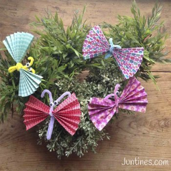 Mariposas de origami. Manualidades con papel