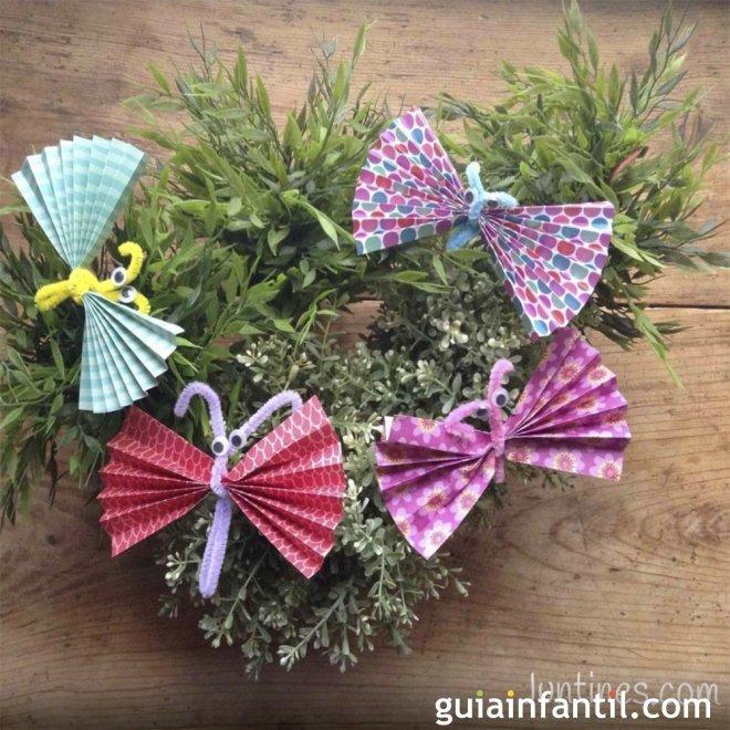 Mariposas de origami manualidades con papel - Manualidades para adultos paso a paso ...
