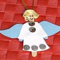 Ángel de Navidad. Manualidad con palos de helado