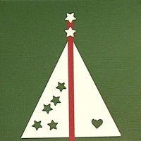 Postales de Navidad. Árbol con estrellas