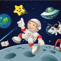 Cuento para niños en inglés: Man on the moon