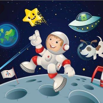 Homme sur la lune. Histoire illustrée