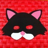 Antifaz de gato. Manualidades de Carnaval
