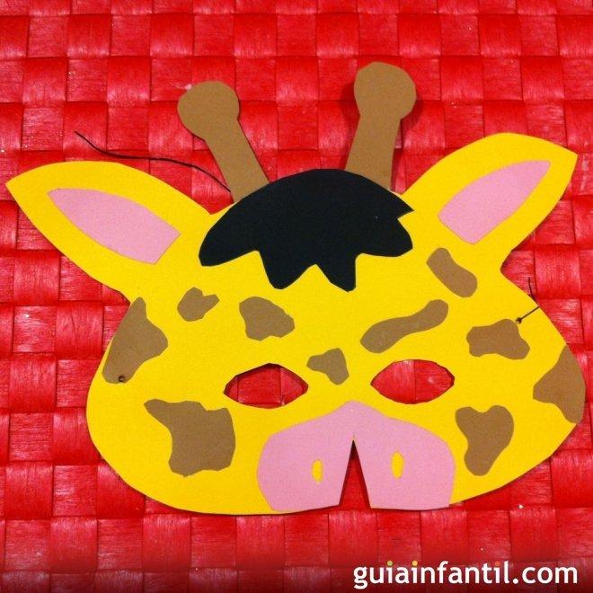 Antifaz de jirafa. Manualidades de Carnaval