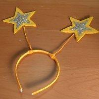 Diadema de estrellas. Manualidades de Carnaval