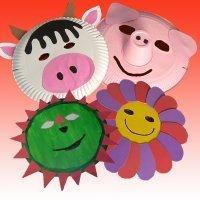 Máscaras de Carnaval con platos de papel. Manualidades para niños