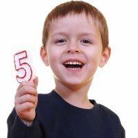 Niño de cinco años