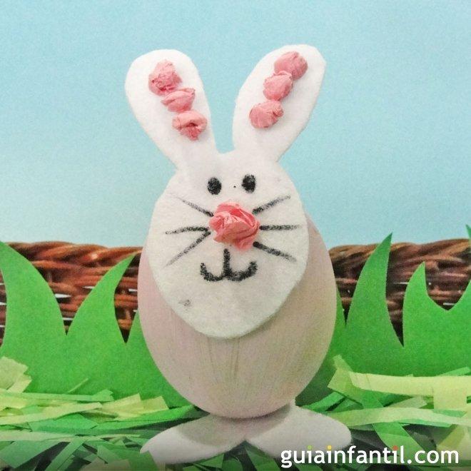 Conejo De Pascua Manualidades Infantiles Con Huevos