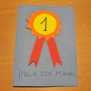 Tarjeta de medalla para mamá