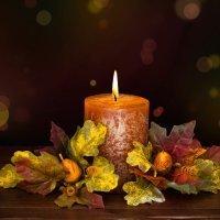 Candelabro para el otoño. Manualidades para niños