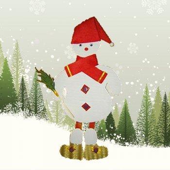 Muñeco de nieve de cartón