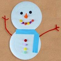 Muñeco de nieve de reciclaje. Manualidades de Navidad
