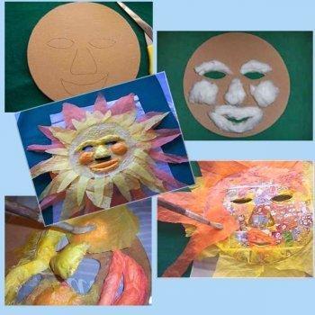Máscara de cartón y papel de seda