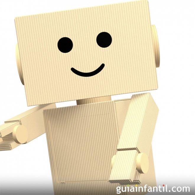 disfraz de robot con cajas de cart n manualidad infantil. Black Bedroom Furniture Sets. Home Design Ideas