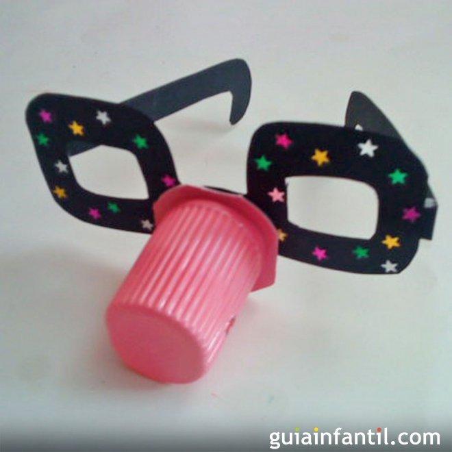 Gafas Divertidas Con Vaso De Yogur Manualidades De Reciclaje