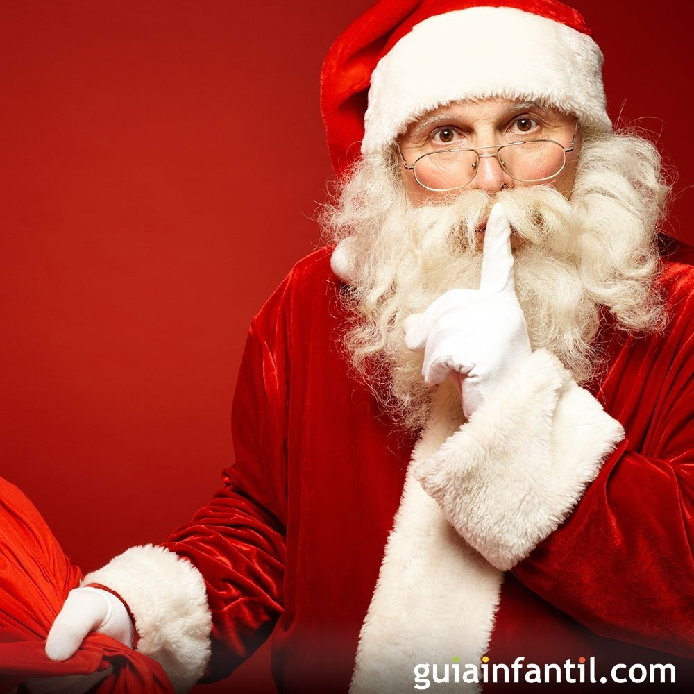 Papá Noel: un viejecito de traje rojo y barba blanca con