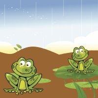 Las ranas y el pantano seco. Fábulas para niños de Esopo
