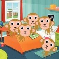 Five little monkeys. Canciones infantiles en inglés